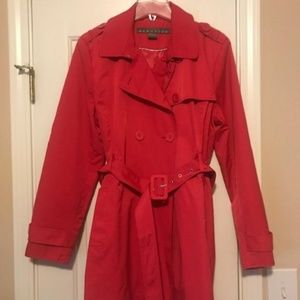 Red Kenneth Cole Trenchcoat